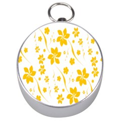 Shamrock Yellow Star Flower Floral Star Silver Compasses by Mariart