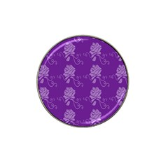Purple Flower Rose Sunflower Hat Clip Ball Marker (4 Pack) by Mariart