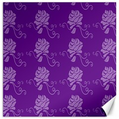 Purple Flower Rose Sunflower Canvas 12  X 12   by Mariart