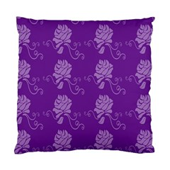 Purple Flower Rose Sunflower Standard Cushion Case (two Sides) by Mariart