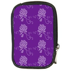 Purple Flower Rose Sunflower Compact Camera Cases by Mariart