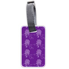 Purple Flower Rose Sunflower Luggage Tags (one Side)  by Mariart