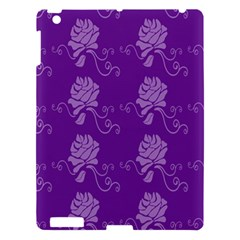 Purple Flower Rose Sunflower Apple Ipad 3/4 Hardshell Case by Mariart