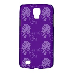 Purple Flower Rose Sunflower Galaxy S4 Active by Mariart