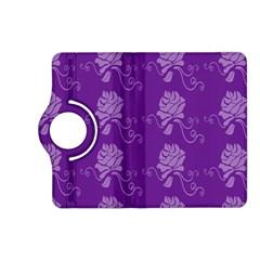 Purple Flower Rose Sunflower Kindle Fire Hd (2013) Flip 360 Case by Mariart
