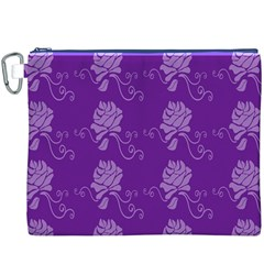 Purple Flower Rose Sunflower Canvas Cosmetic Bag (xxxl) by Mariart