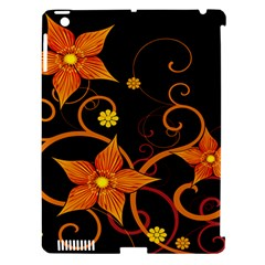 Star Leaf Orange Gold Red Black Flower Floral Apple Ipad 3/4 Hardshell Case (compatible With Smart Cover) by Mariart