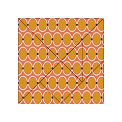 Orange Circle Polka Acrylic Tangram Puzzle (4  X 4 ) by Mariart
