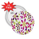 Star Flower Purple Pink 2.25  Buttons (10 pack)