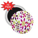 Star Flower Purple Pink 2.25  Magnets (10 pack)