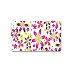 Star Flower Purple Pink Magnet (Name Card)