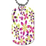 Star Flower Purple Pink Dog Tag (One Side)