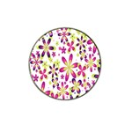 Star Flower Purple Pink Hat Clip Ball Marker (4 pack)