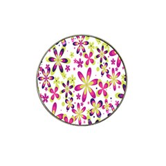 Star Flower Purple Pink Hat Clip Ball Marker (10 Pack) by Mariart