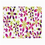 Star Flower Purple Pink Small Glasses Cloth