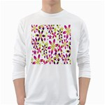 Star Flower Purple Pink White Long Sleeve T-Shirts
