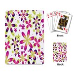 Star Flower Purple Pink Playing Card