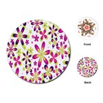 Star Flower Purple Pink Playing Cards (Round)