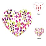 Star Flower Purple Pink Playing Cards (Heart)
