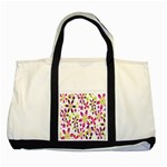 Star Flower Purple Pink Two Tone Tote Bag