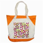 Star Flower Purple Pink Accent Tote Bag
