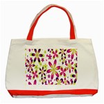 Star Flower Purple Pink Classic Tote Bag (Red)