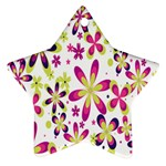 Star Flower Purple Pink Star Ornament (Two Sides)