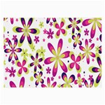Star Flower Purple Pink Large Glasses Cloth (2-Side)