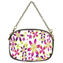 Star Flower Purple Pink Chain Purses (one Side)  by Mariart