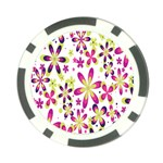 Star Flower Purple Pink Poker Chip Card Guard (10 pack)
