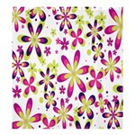 Star Flower Purple Pink Shower Curtain 66  x 72  (Large)