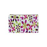 Star Flower Purple Pink Cosmetic Bag (Small)