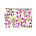 Star Flower Purple Pink Cosmetic Bag (Large)