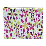 Star Flower Purple Pink Cosmetic Bag (XL)