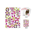 Star Flower Purple Pink Playing Cards (Mini)