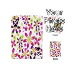 Star Flower Purple Pink Playing Cards 54 (Mini)