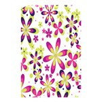 Star Flower Purple Pink Shower Curtain 48  x 72  (Small)