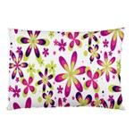 Star Flower Purple Pink Pillow Case (Two Sides)