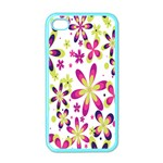 Star Flower Purple Pink Apple iPhone 4 Case (Color)