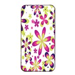 Star Flower Purple Pink Apple iPhone 4/4s Seamless Case (Black)