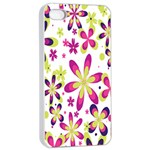 Star Flower Purple Pink Apple iPhone 4/4s Seamless Case (White)