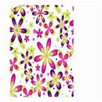 Star Flower Purple Pink Small Garden Flag (Two Sides)