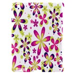 Star Flower Purple Pink Apple iPad 3/4 Hardshell Case (Compatible with Smart Cover)