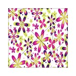 Star Flower Purple Pink Acrylic Tangram Puzzle (6  x 6 )