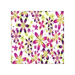 Star Flower Purple Pink Acrylic Tangram Puzzle (4  x 4 )