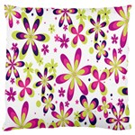 Star Flower Purple Pink Large Cushion Case (Two Sides)
