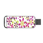 Star Flower Purple Pink Portable USB Flash (One Side)