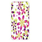 Star Flower Purple Pink Apple iPhone 5 Seamless Case (White)