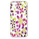 Star Flower Purple Pink Apple Seamless iPhone 5 Case (Clear)
