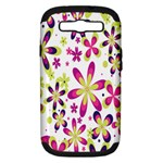 Star Flower Purple Pink Samsung Galaxy S III Hardshell Case (PC+Silicone)